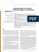 Anaes Role in Fast Track Surgery