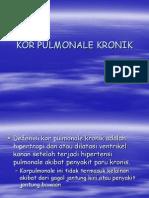 Kor Pulmonale Kronik