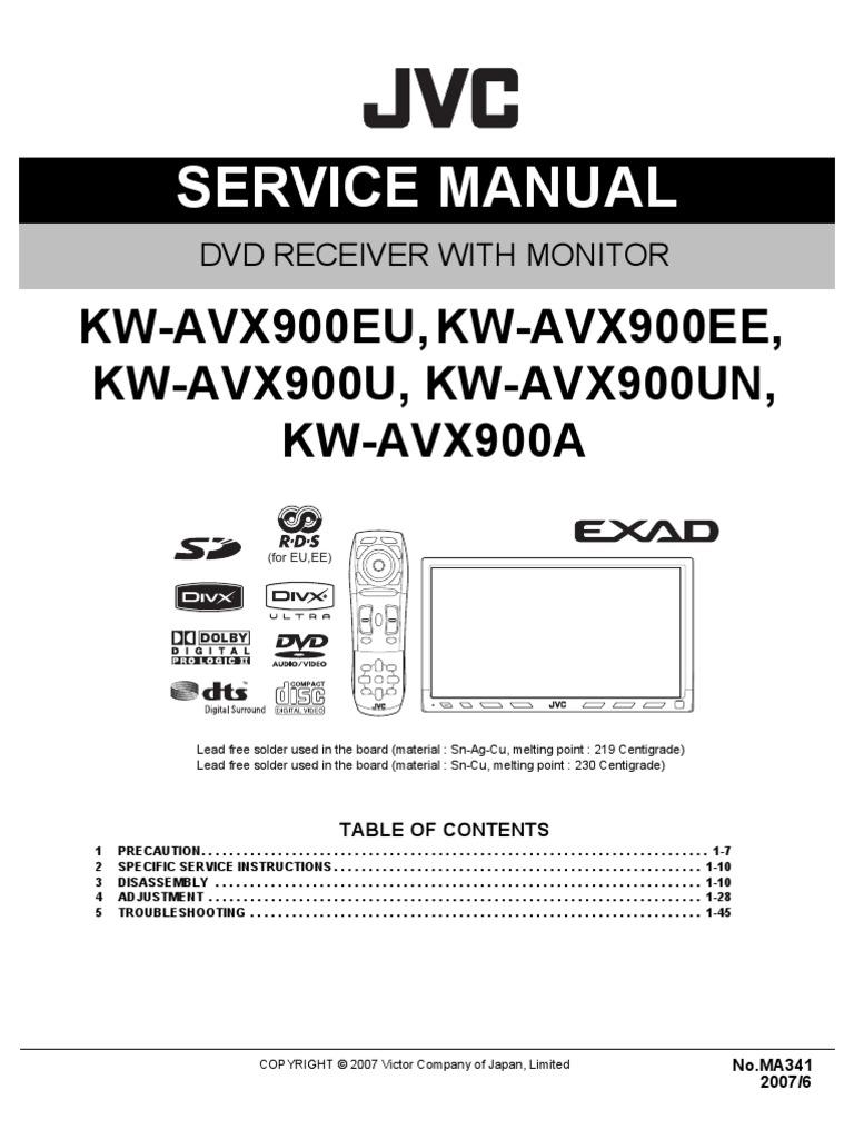 jvc kw avx900 rh scribd com JVC KD R520 Wiring-Diagram JVC Wiring Harness