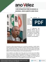 16-04-12 LA DEUDA DE LOS ESTADOS NO PONE EN RIESGO LA ECONOMÍA NACIONAL