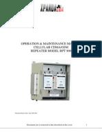 Repetidora Celular - RPT900 Ops and Maint Manual