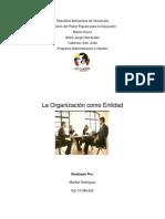 La Organización como entidad