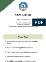 Amino Acids (1) IUA, 2012