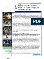Smart Cities Healthy Kids Fact Sheet May 2011