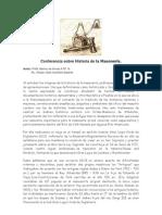 Marino de Armas - Conferencia Sobre Historia de La Masoneria