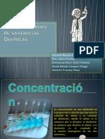 Concentraciones de sustancias Químicas