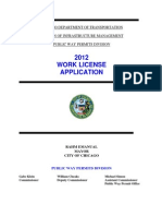 2012 Work License Application