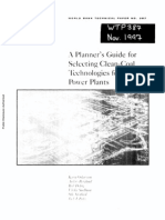 Planners Guide for Clean Coal Technology for Power Plants