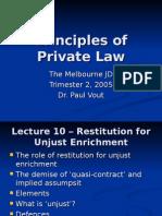 PPL10 Unjust Enrichment