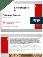 IU BIM Rollout Presentation 9-10-2009 - Seminario Indiana University