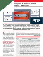 Los grados de protección IP en los equipos e instalaciones III