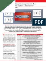 Los grados de protección IP en los equipos e instalaciones IV