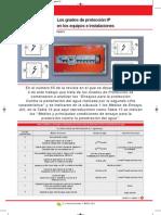 Los grados de protección IP en los equipos e instalaciones VI