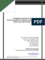 MODIFICACIONES EN EL FUNCIONAMIENTO PSIQUICO DE NIÑOS Y NIÑAS MALTRATADOS