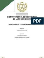 Proyecto de Investigacion Aplicacion Del QFD