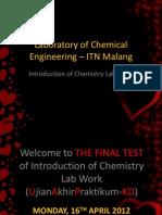 Laboratory of Chemical Engineering – ITN Malang