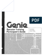 Genie Operators Training Participants Guide