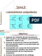Tema 5-El Transistor Unipolar 2009.Ppt 0