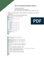 Tugas Pendahuluan Praktikum Fortran Modul i