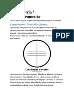 Lensometría