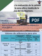Resultados de la calidad ambiental del aire de la zona alta y media de la cuenca del río Mantaro, El Mantaro Revive, Junín-Perú