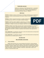 NLC International Membership Agreement