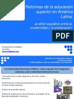 Reformas Educacion Superior America Latina