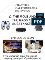 The Mole and the Mass of Substance