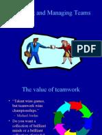Building and Managing Teams