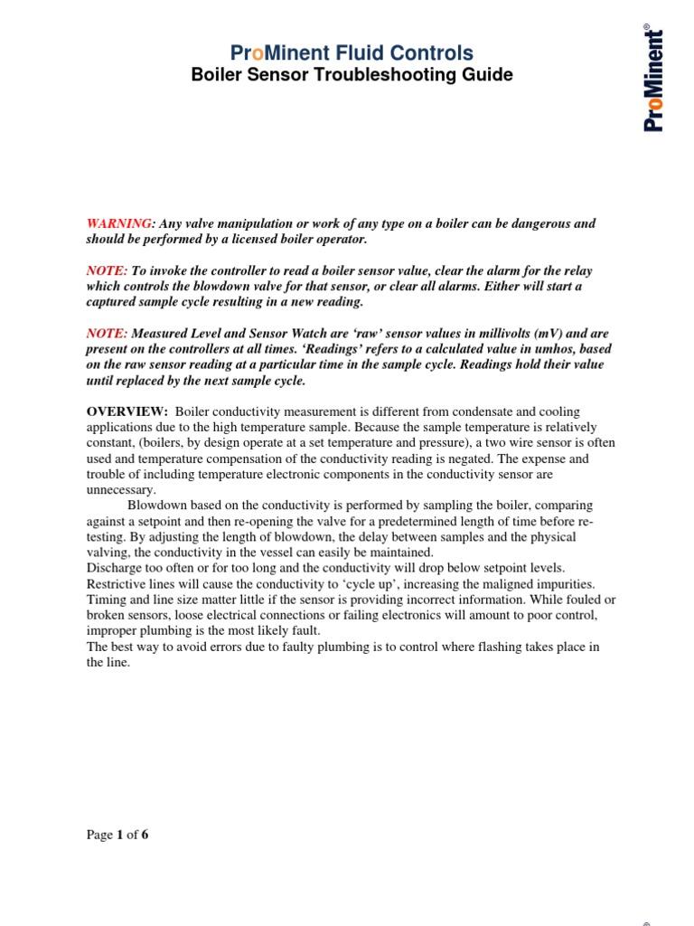 Boiler Sensor Troubleshooting GuideR1 | Valve | Boiler