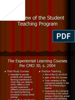 Overview of the Student Teaching Program