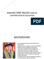 Awang Had Salleh and His Contribution in Education