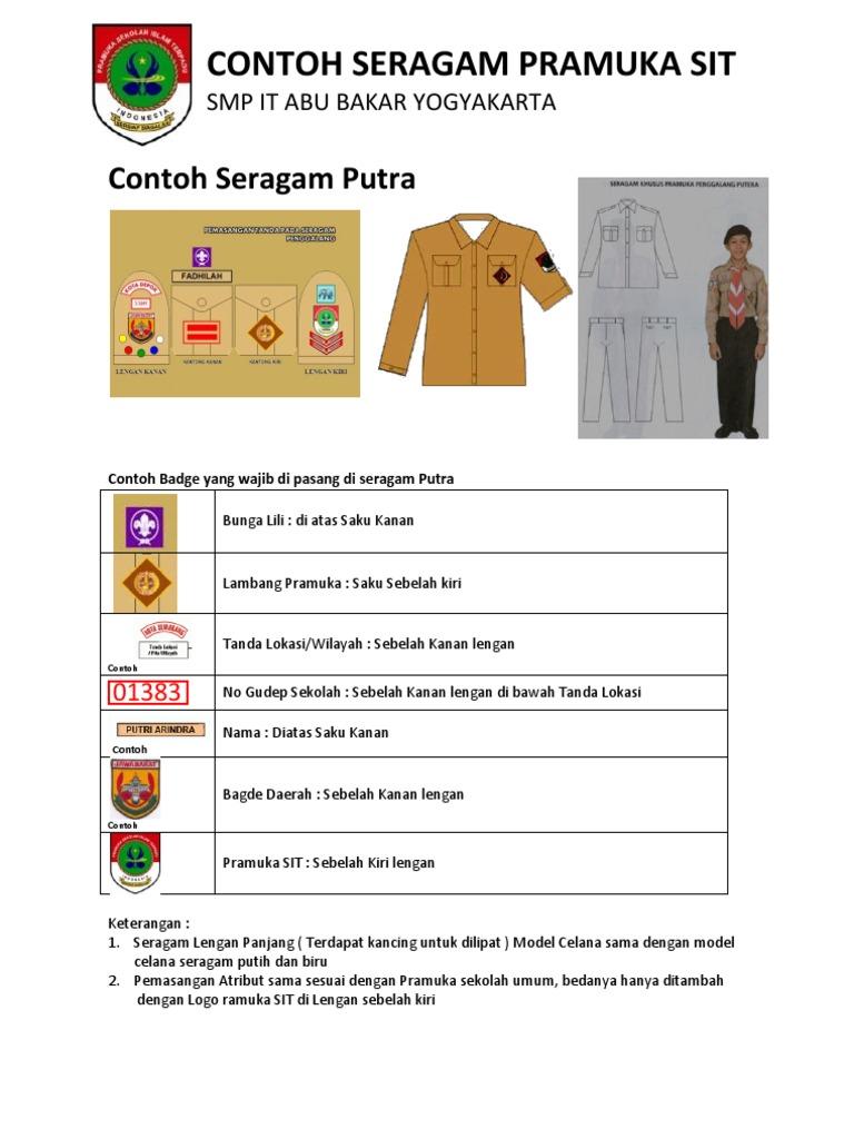 Contoh Seragam Pramuka Sit