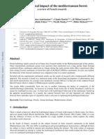 J. Hydrol. 2005 - Article C. Cosandey Et Al. - Mediterranean Hydrology