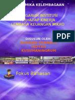 Pengaruh Institusi Terhadap Lembaga Keuangan Mikro Di Indonesia (Studi Kasus LPD Gianyar Bali)