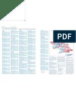 Timetable 12 January