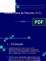 Anlise Crtica Do Discurso Acd