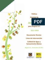 Calidad de Agua y to Basico - 2011