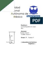 practica 6 de Organica Cromatrografia en capa fina