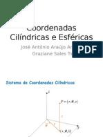 Coordenadas Cilindricas e Esfericas