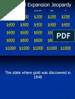 Westward Expansion Jeopardy