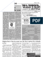 HigherOne's One Account not the best option for refund - Dawes