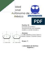 Practica 10 Organica Isomeria Geometric A