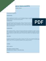 Reglamento Orgánico Interno del MTPS