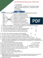 Corrección Del Examen De Sistemas Monousuario y Multiusuario