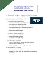 Selectividad Historia aÑo 2008-2009