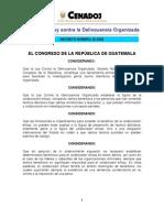D023-2009 -Reforma a Ley Contra La Delincuencia Organizada