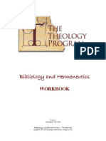 Bibliology & Hermeneutics Workbook Jul 2006
