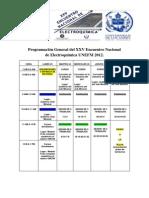 Programacion General XXV ENEQ 2012