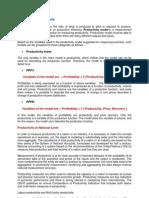 3. Productivity Models